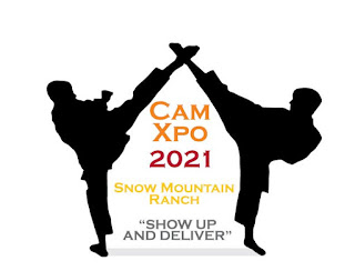 The patch for the CamXpo 2021, a martial arts summer camp