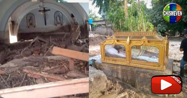 Se inundó la capilla de El Limón pero se salvó el Santo Sepulcro