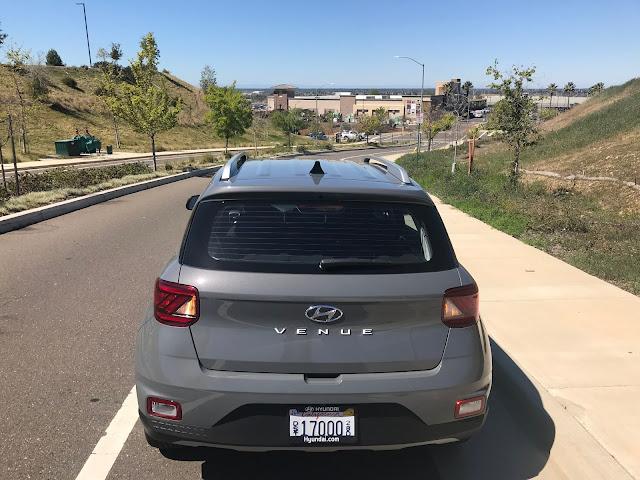 Rear view of 2020 Hyundai Venue SEL