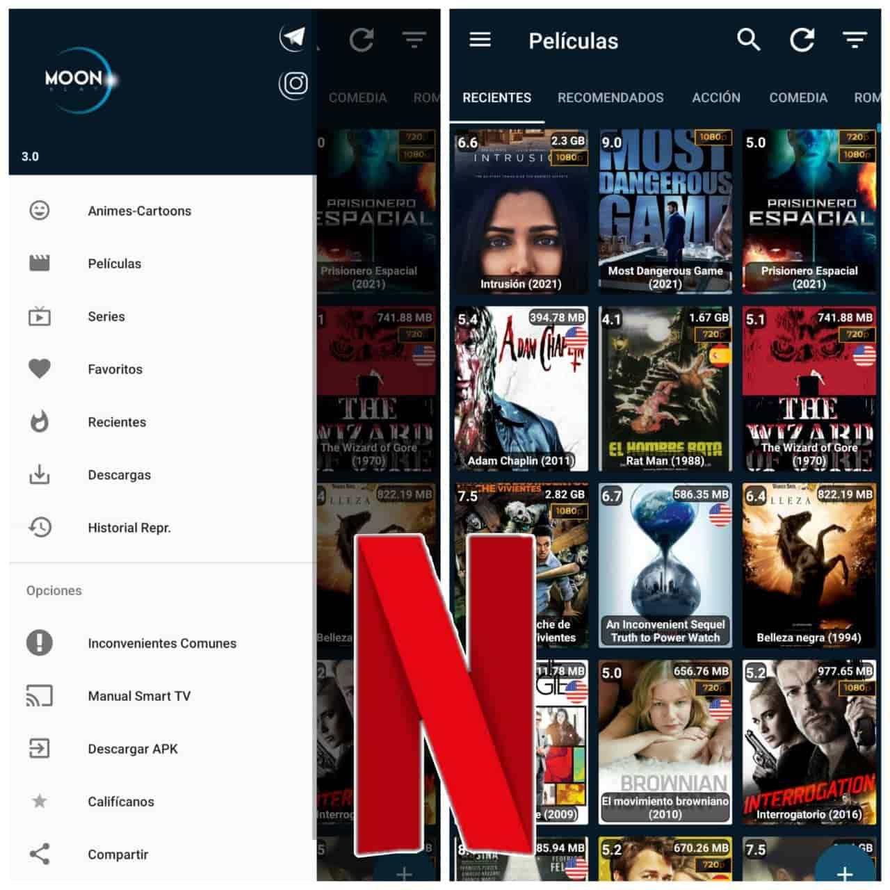 Moonklat APP Para Ver PELICULAS, SERIES, ANIMES Y TELENOVELAS En Android 2021