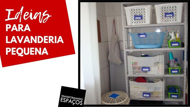Ideias para organizar uma lavanderia pequena!