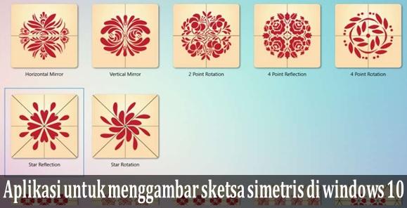 Aplikasi untuk menggambar sketsa simetris di windows  Aplikasi untuk menggambar sketsa simetris di windows 10