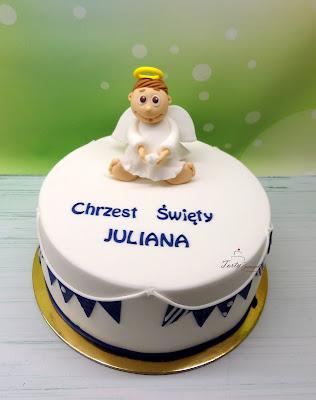 tort z aniołkiem