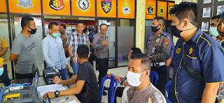 Polres Pangkep Lakukan Pemeriksaan Kesehatan Rutin Anggota