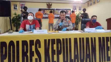 Polres Kepulauan Mentawai Ungkap Kasus Judi dan Narkoba