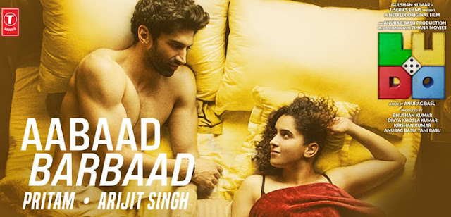 """""""Aabaad Barbaad Lyrics'' from Ludo is latest Hindi song sung by Arijit Singh. Aabaad Barbaad song lyrics are written by Sandeep Srivastava and music is given by Pritam."""