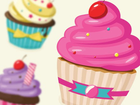 Download Vector Cupcakes Free