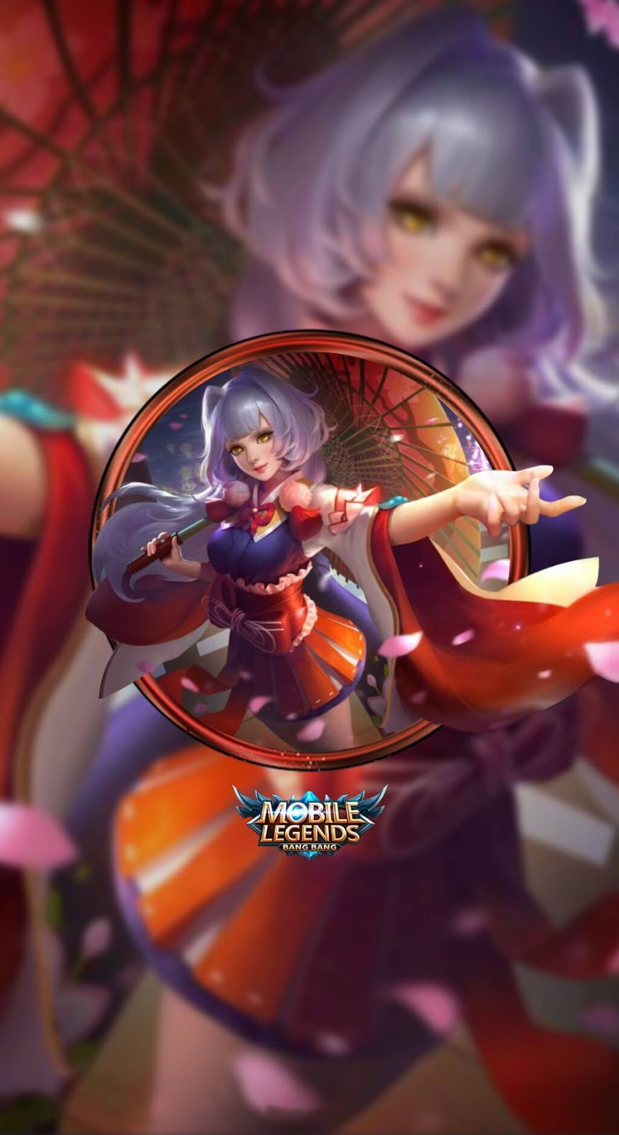 Wallpaper Kagura Cherry Witch Skin Mobile Legends Full HD for Android and iOS