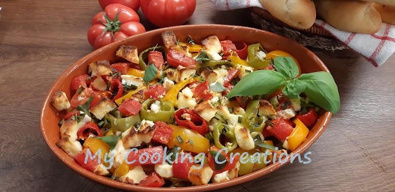 Буюрди - гръцка запеканка със сирене фета, домати и чушки * Buyurdi