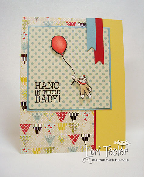 Hang in There Baby-designed by Lori Tecler-Inking Aloud-stamps and dies from The Cat's Pajamas