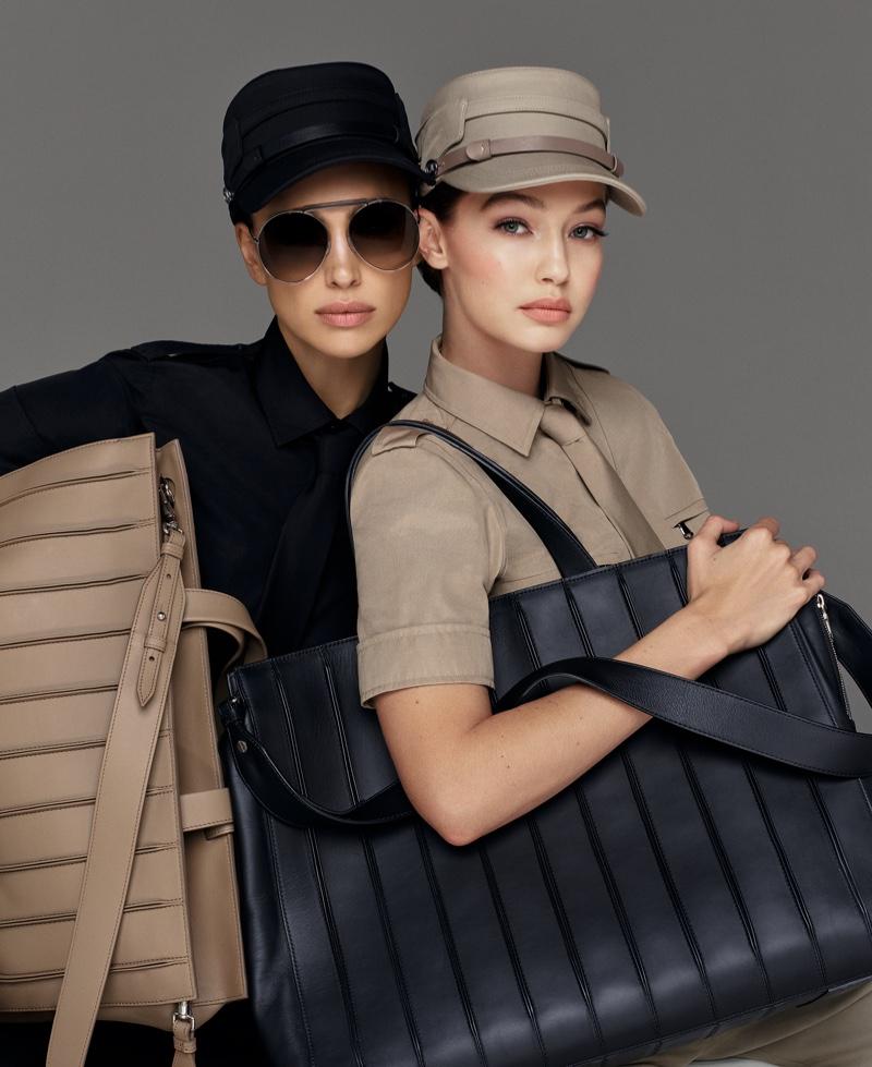 Irina Shayk and Gigi Hadid model handbags in Max Mara spring-summer 2020 campaign