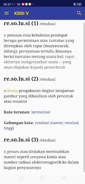 Arti resolusi