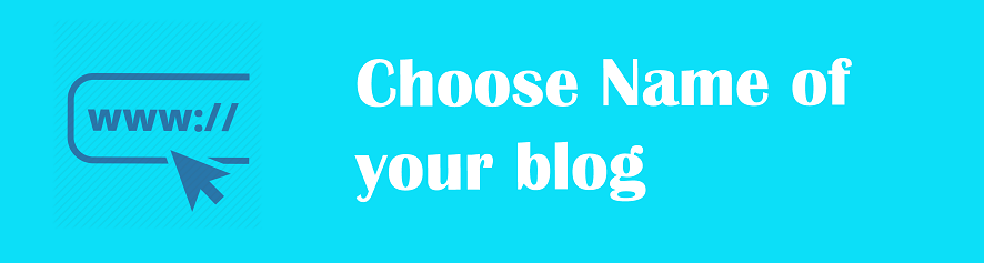 Choose Your blog name