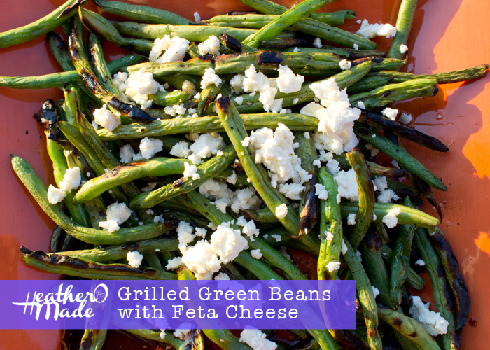 Grilled Green Beans with Feta Cheese recipe