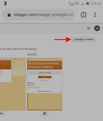 Tutorial cara mengganti tema bawaan pada blogger