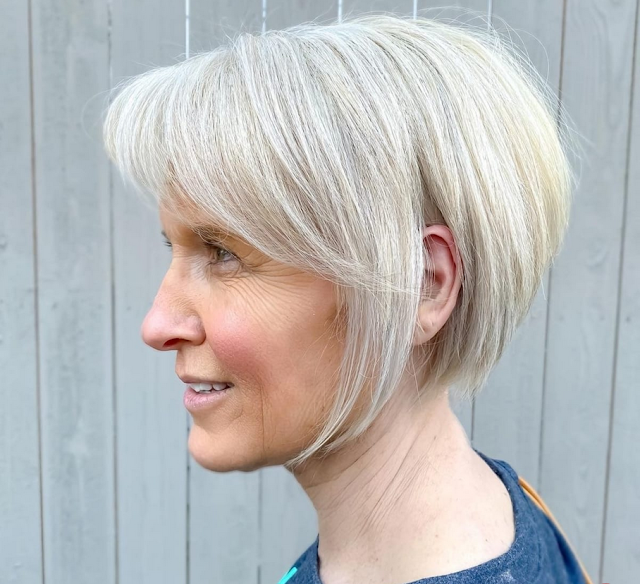 bob haircuts for women over 50
