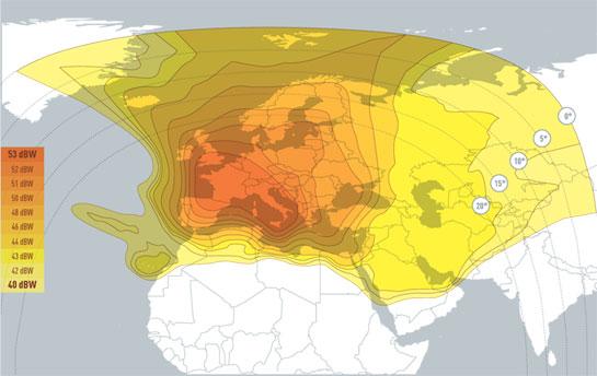 Eutelsat Hot Bird 13B/13C/13E @ 13° East