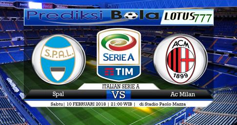 PREDIKSI  SKOR  Spal vs AC Milan  10 Februari 2018