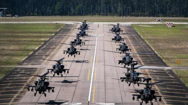 EEUU envía 20 helicópteros Apache y otros 190 soldados a Afganistán