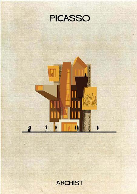 もし有名画家が建築物を作ったら?ゴッホ、ピカソ、ダリの建築? ピカソ