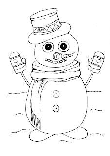 דפי צביעה לילדים לחורף שלג