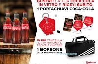 """Logo Concorso """"Da Roadhouse e Calavera vinci con Coca-Cola"""" : 170 borsoni Adidas e un regalo sicuro per te!"""