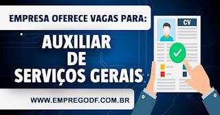 UXILIAR DE SERVIÇOS GERAIS