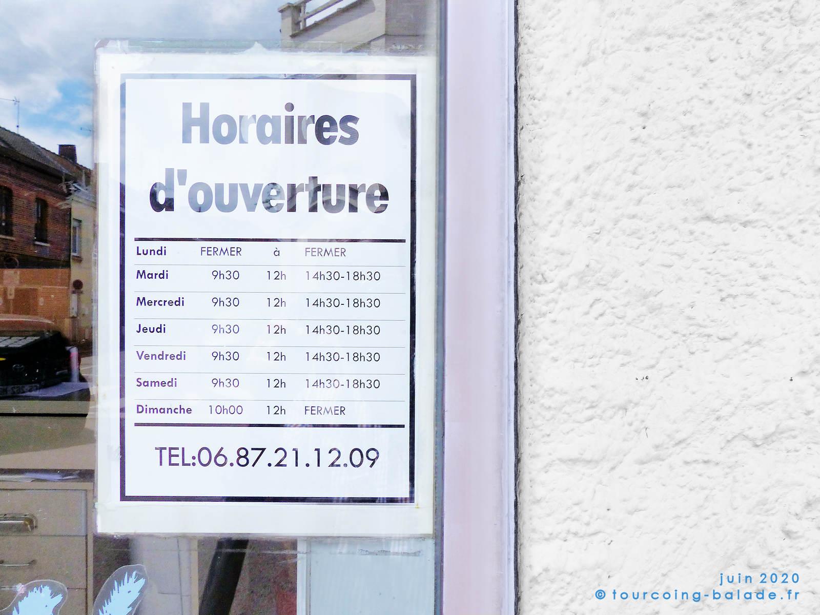Horaires d'ouverture - Animalerie de la Croix Rouge, Tourcoing 2020