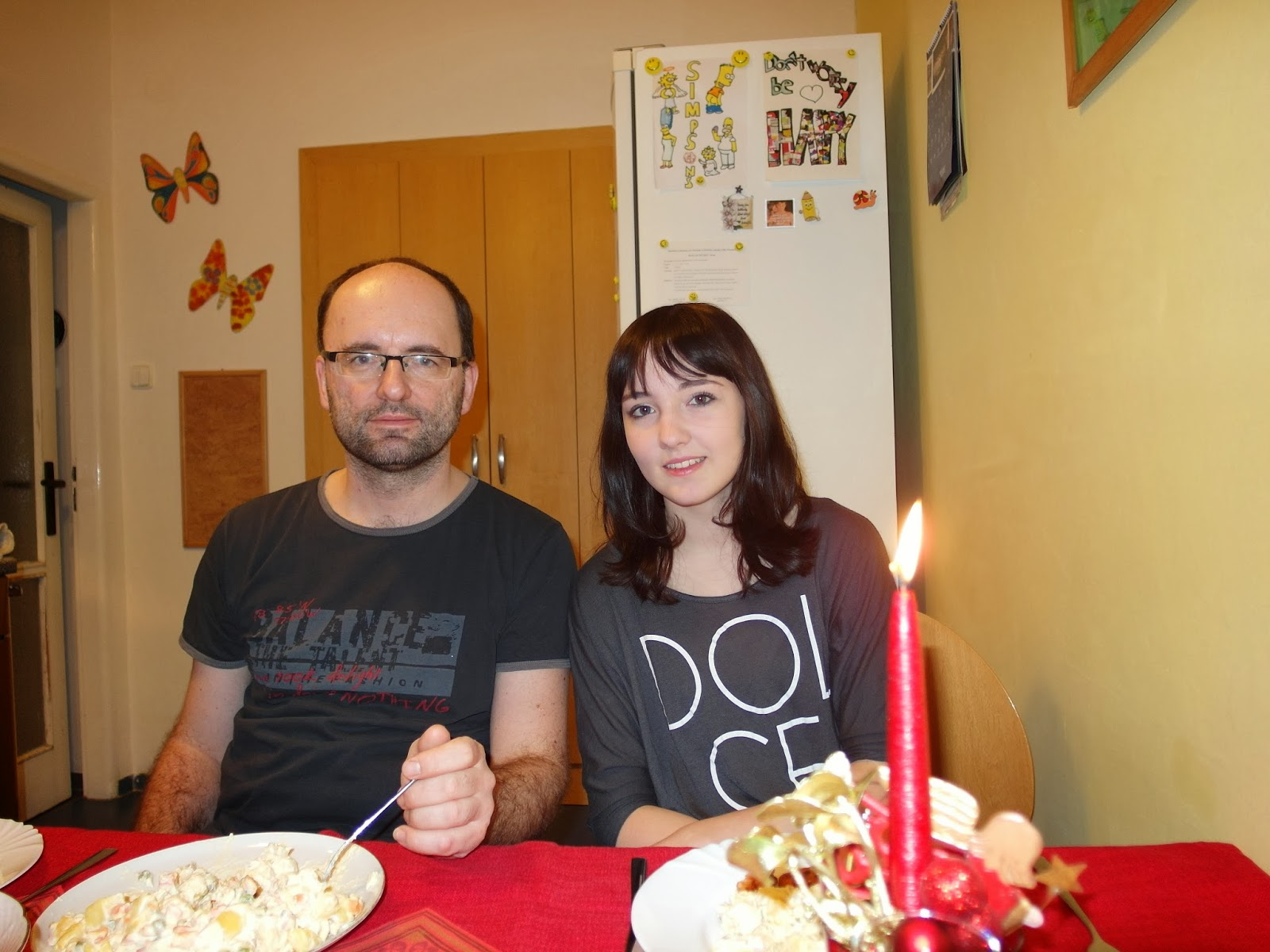 Vánoční rodinná fotka