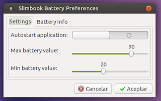 Slimbook Battery Preferences