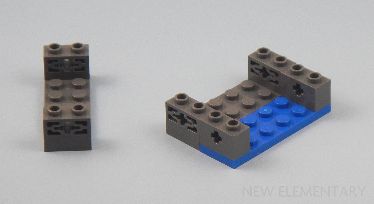 New LEGO Lot of 4 Dark Bluish Gray 1x4 Plates Two Top Edge Studs