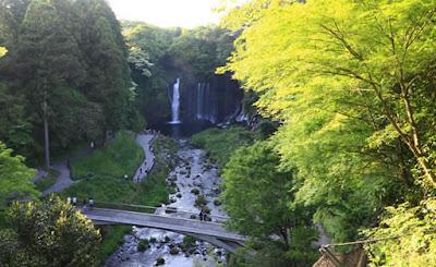 Vista da cachoeira, do alto