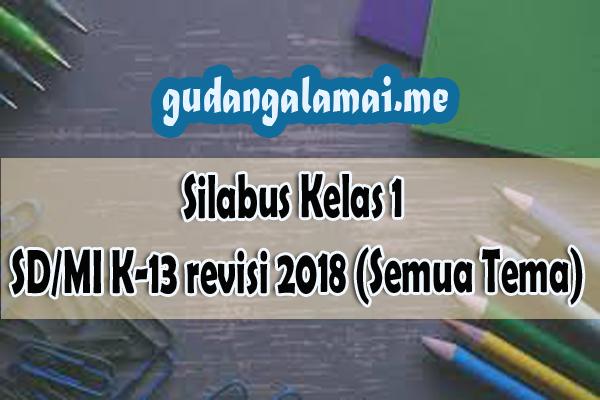 Silabus Kelas 1 SD/MI K-13 revisi 2018 (Semua Tema)