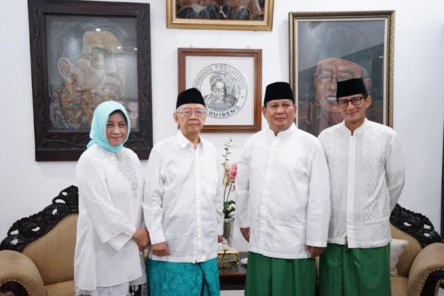 Kampanye di Jatim, Prabowo-Sandi Temui Gus Sholah dan Ziarah Makam KH. Hasyim Asy'ari