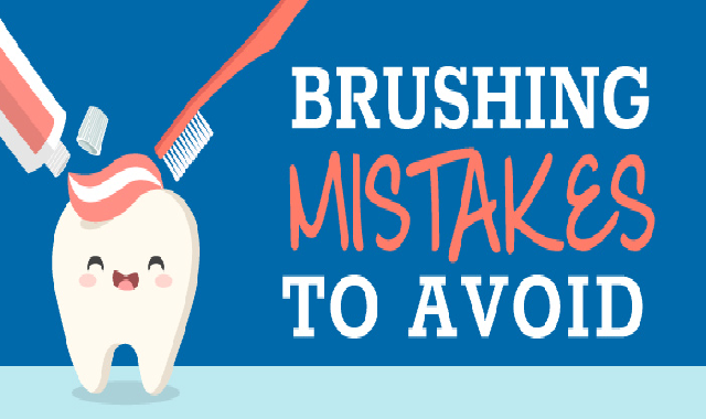 Brushing Mistakes To Avoid #Infographic