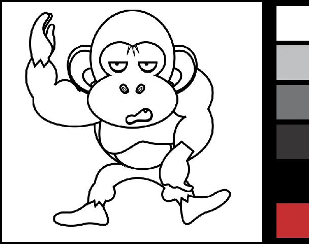 Gambar Mewarnai Hewan Kuda gorila