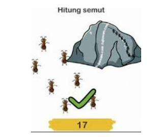 Hitung semut Brain Out, kunci jawaban Brain out Level 27