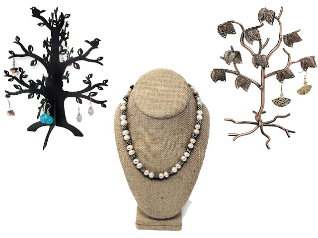 Jewelry displays with fall colors and design from Nile Corp