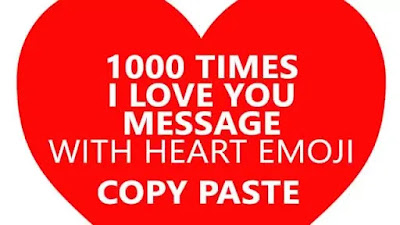 I Love You Text Message Easy Copy Paste