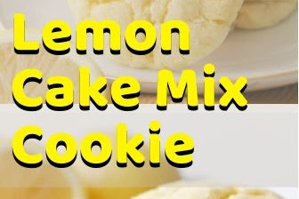Lemon Cake Mix Cookie