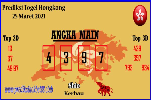 Bocoran Hongkong 25 Maret 2021