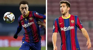 Barcelona boss Koeman reportedly has more trust in Sergi Roberto than Dest for big matches