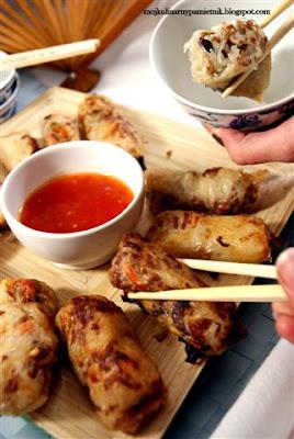 chinskie, chinszczyzna, sajgonki, bernika, makaron sojowy, moj kulinarny pamietnik