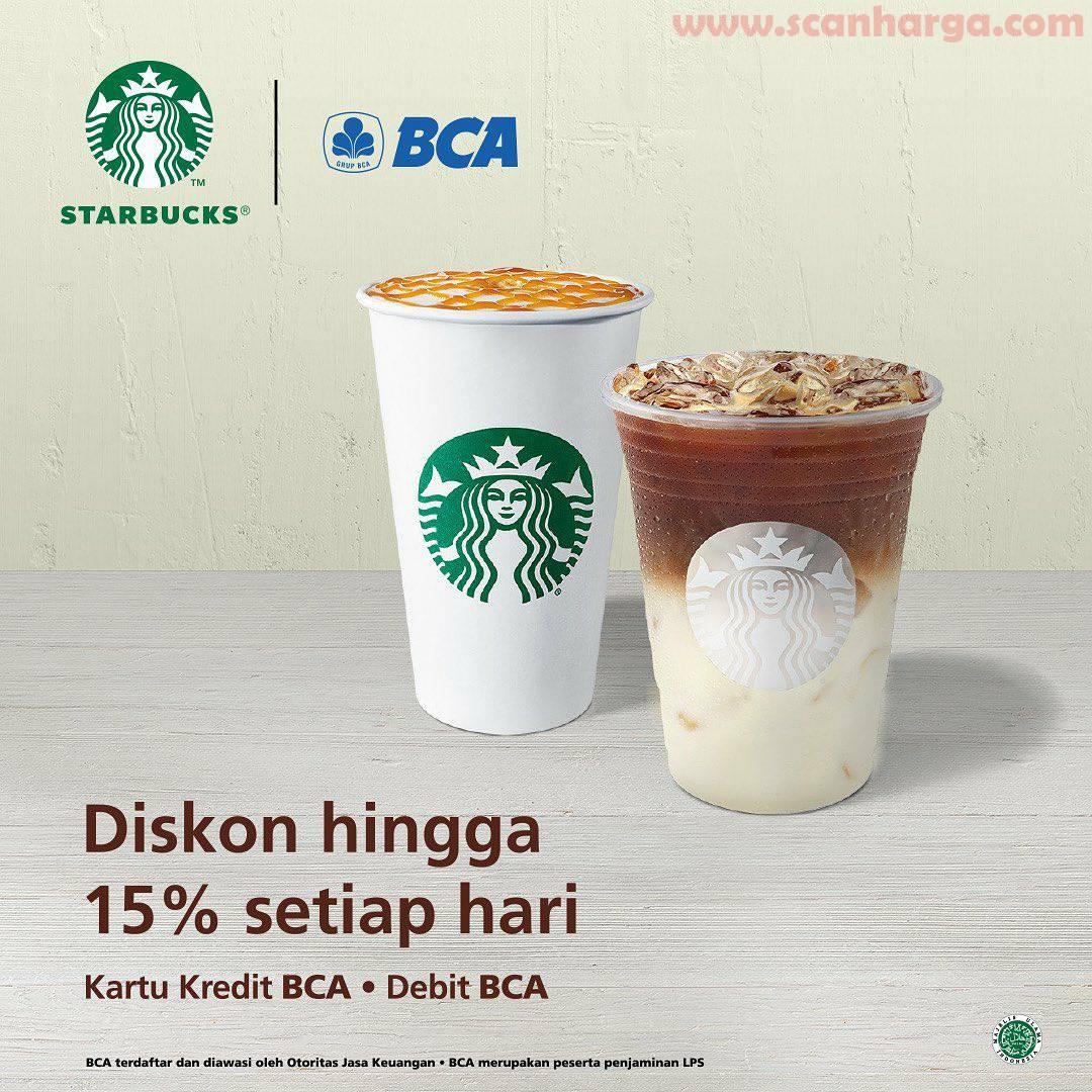 Starbucks Promo BCA Diskon hingga 15% Setiap Hari dengan Kartu Kredit/Debit BCA