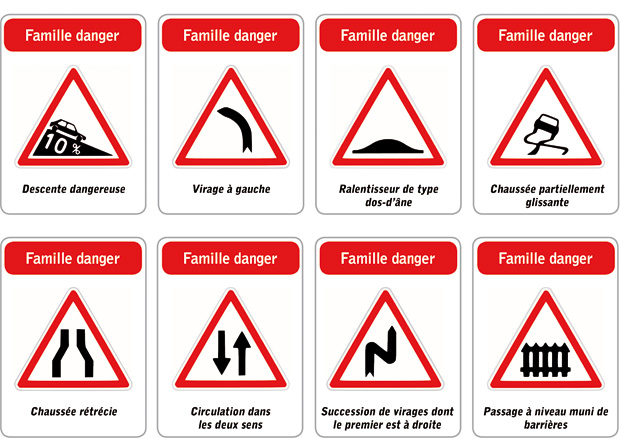 Znaki drogowe - znaki ostrzegawcze 2 - Francuski przy kawie