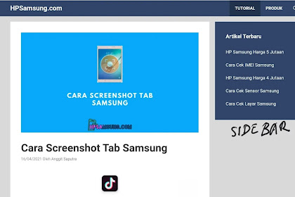 Trik sticky sidebar halaman blog murni CSS