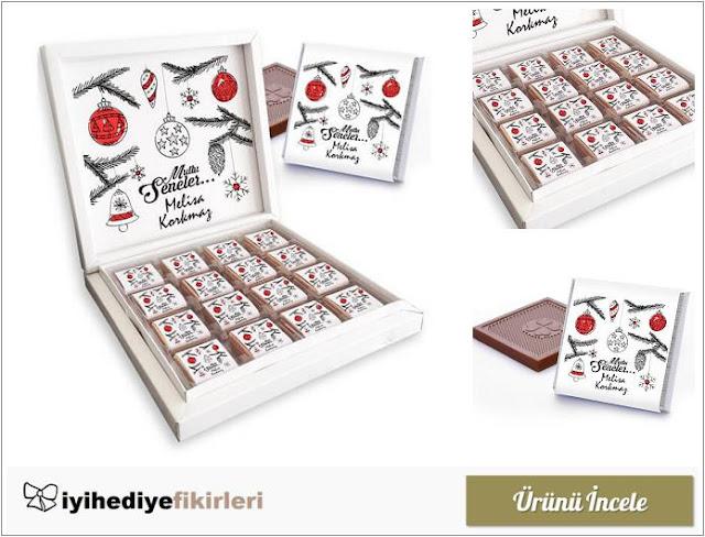 İsme Özel Mesajlı Yılbaşı Çikolataları