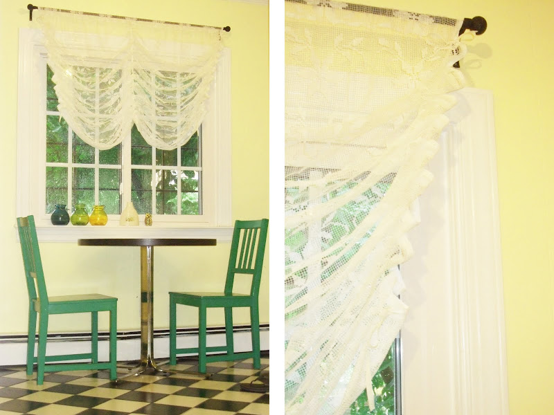Do It Yourself Window Treatments: Navyblueshoe: Friday Arts & Crafts: Do It Yourself: Lace