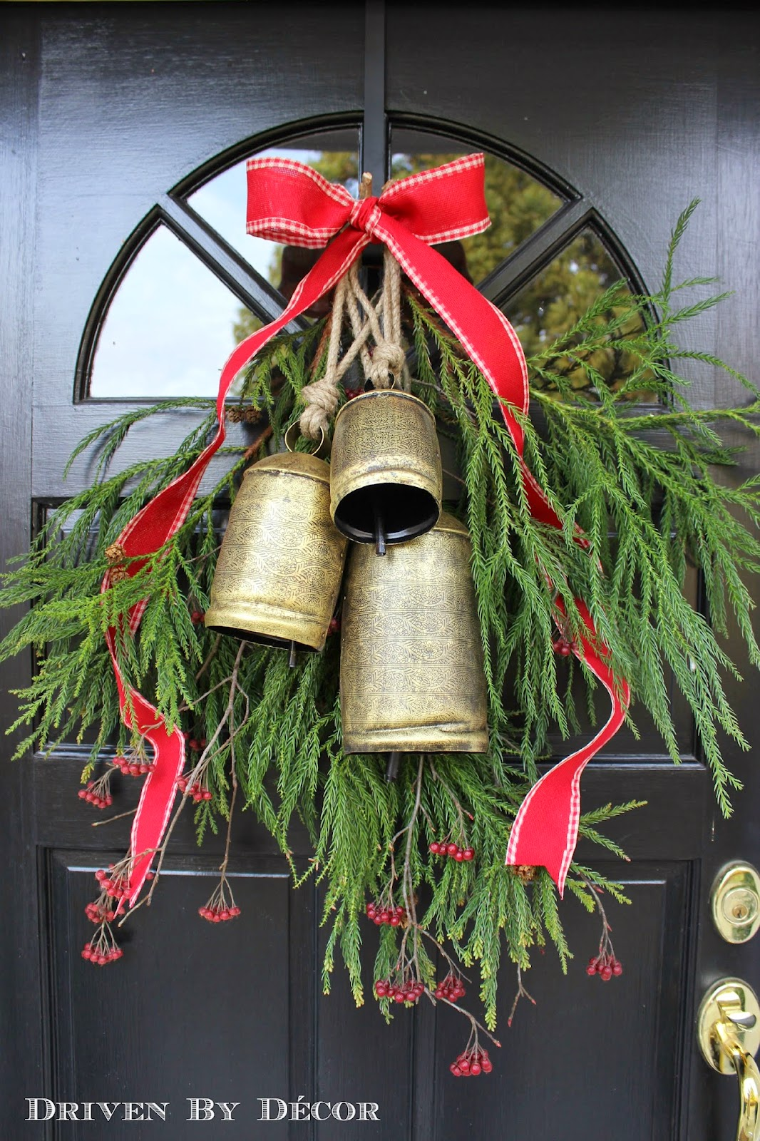 our christmas home tour - Large Christmas Bells Decorations