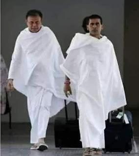رجلان حجا بيت الله الحرام وأثناء العوده الى ديارهم جلسا في صالة الانتظار بمطار جدة